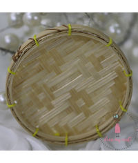 Miniature Vegetable Cane Flate Basket