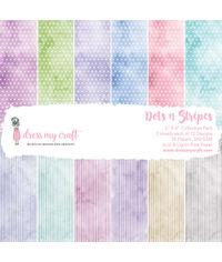 """Dots n Stripes - 6""""X6"""" Paper Pad"""