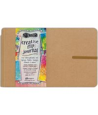 "Dylusions Creative Flip Journal - Kraft 8.5""X5.5"""