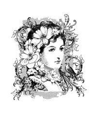 Elizabeth Bennet - Stamp