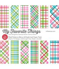 "Plaid Patterns Merry & Bright 6"" x 6"" Paper Pack"
