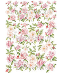 Watercolor Roses and Rose's Buds - Easy Paper