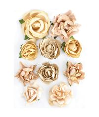"Honey - Paper Blooms 1"" - 1.5"" 10/Pkg"