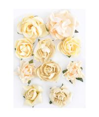 "Buttercream - Paper Blooms 1"" - 1.5"" 10/Pkg"