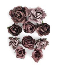 """Aubergine - Paper Blooms 1"""" - 1.5"""" 10/Pkg"""