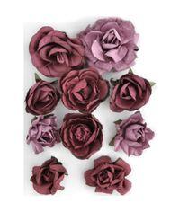 "Cranberry - Paper Blooms 1"" - 1.5"" 10/Pkg"