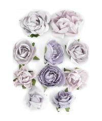 "Misty - Paper Blooms 1"" - 1.5"" 10/Pkg"