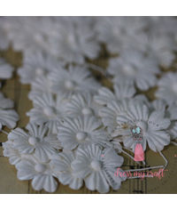 Sakura Flat Flowers with Pollens - Off White