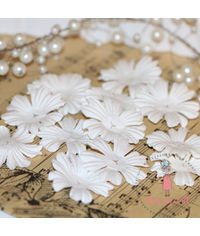 Sakura Flat Flowers - Ivory