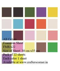 Foamiran Sheet - All Colors