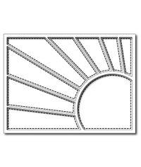 Corner Sun Rays Quilt Panel - Die