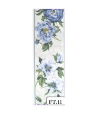 Peony Blue - FABRIC TAPES PURE COTTON