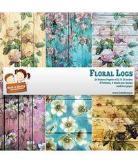 """Floral Logs Paper Pack 12""""X12"""", 24/Pkg"""