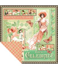 """Time to Celebrate - Time To Celebrate Double-Sided Cardstock 12""""X12"""""""