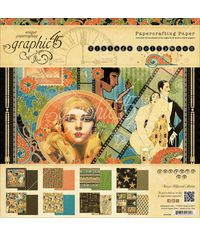"Vintage Hollywood Double-Sided Paper Pad 8""X8"" 24/Pkg"