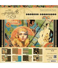 """Vintage Hollywood Double-Sided Paper Pad 12""""X12"""""""