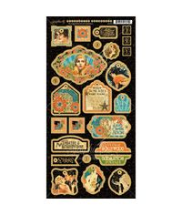 "Vintage Hollywood Chipboard Die-Cuts 6""X12"" Sheet - Decorative"