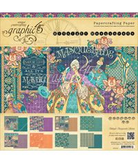 "Midnight Masquerade  Double-Sided Paper Pad 8""X8"" 24/Pkg"