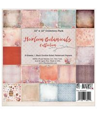 "Heirloom Botanicals Collection Pack 12""X12"" 9/Pkg"