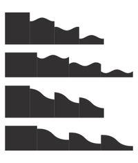 "Black - Foldout Cards, 4 1/4"" x 5 1/2"""