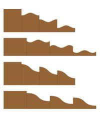 "Kraft - Foldout Cards, 4 1/4"" x 5 1/2"""