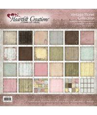 """Vintage Floret 12""""X12"""" Paper Pad 24/Pkg"""