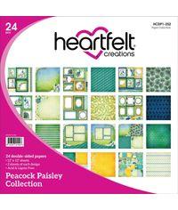 "Peacock Paisley 12""X12"" Paper Pad 24/Pkg"