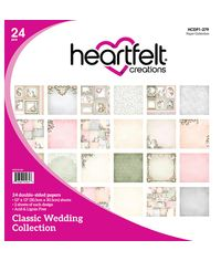 "Classic Wedding Double-Sided Paper Pad 12""X 12"" 24/Pkg"