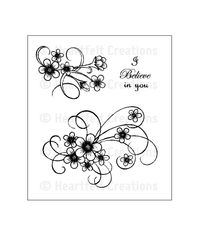 Posy Patch Swirls - Stamp