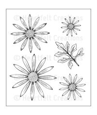 Delicate Asters Stamp