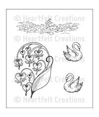 Romantique Swans - Stamp