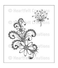 Daisy Flourish - Stamp