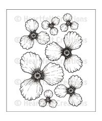 Blazing Poppy Petals - Stamp