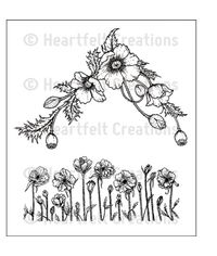 Poppy Corner & Border - Stamp