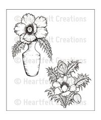 Blazing Poppy Vase - Stamp