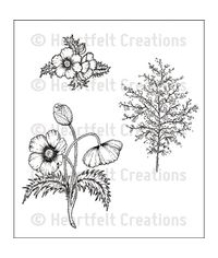 Blazing Poppy Fillers - Stamp