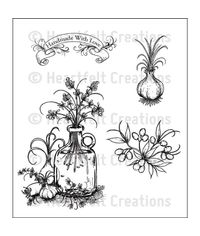 Jug of Herbs Cling Stamp Set