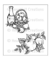 Apple Harvest Cling Stamp Set
