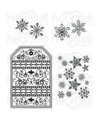 Snow Kissed Flakes & Tag - Stamp