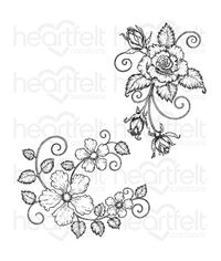 Blushing Rose Swirls Stamp