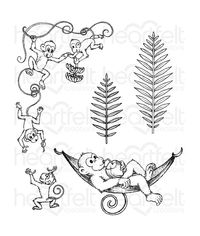 Monkeying Around Cling Stamp
