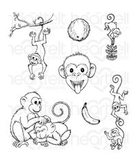 Monkey Antics Cling Stamp