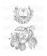 Tropical Parrots Cling Stamp Set