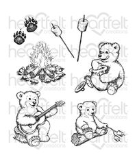 Beary Fun Retreat - Stamp