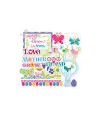 Shapes With Glitter - LYB Hello Spring Acetate Clear-Cuts 34/Pkg