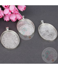 Antique Silver Oval Pandent