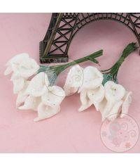 Calla Lily - Glitter White