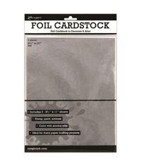 Ranger Surfaces Silver Foil Cardstock 3/Pkg 8.5