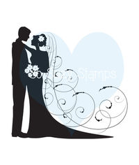 Bride and Groom - Stamp