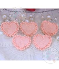 Lacy Heart - Peach